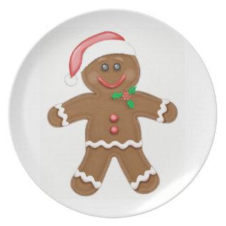 Gingerbread Boy Dinner Plate