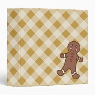 Gingerbread Boy Gingham Binder
