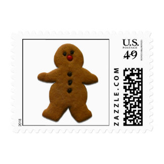 Gingerbread Boy Holiday Stamps