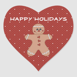 Gingerbread Boy Holiday Stickers