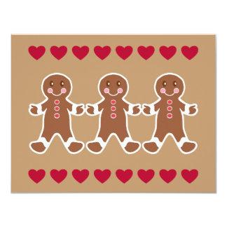 Gingerbread Boy Invitations