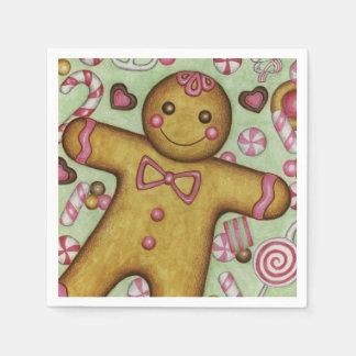 Gingerbread Boy Napkins Disposable Napkin
