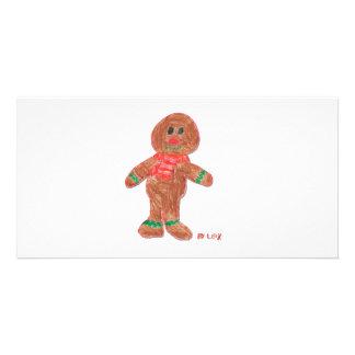 Gingerbread Boy Photo Card