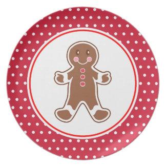 Gingerbread Boy Plate
