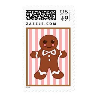 Gingerbread Boy Postage Stamp