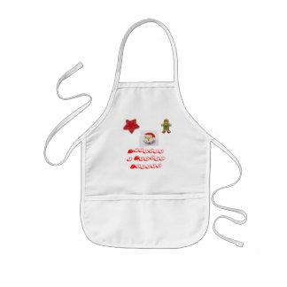Gingerbread-Boy, Santa Cookie, RedStar Cookie, ... Kids' Apron