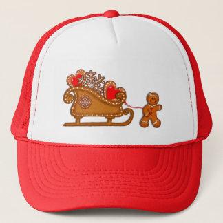 GINGERBREAD BOY & SLEIGH by SHARON SHARPE Trucker Hat
