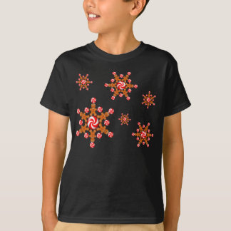 GINGERBREAD BOY STAR by SHARON SHARPE T-Shirt