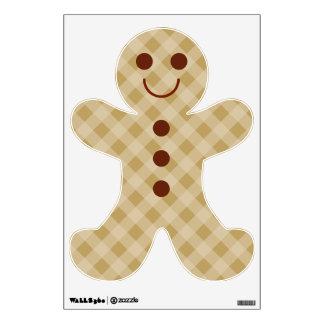 Gingerbread Boy Wall Decal