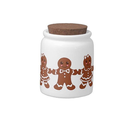 Gingerbread Boys and Girls Candy Jar