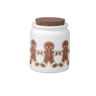 Gingerbread Boys Candy Jar
