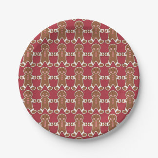 Gingerbread Boys Paper Plates