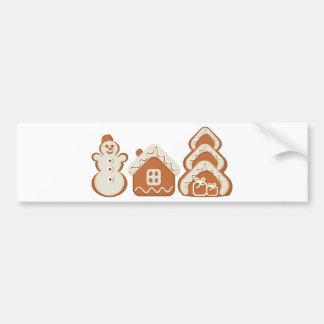 gingerbread bumper sticker