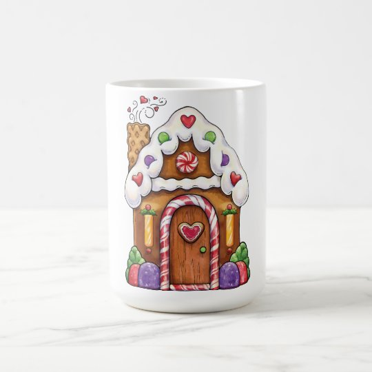 Gingerbread Candy House Cottage Coffee Mug