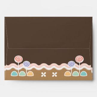 Gingerbread Candyland Holiday Envelope