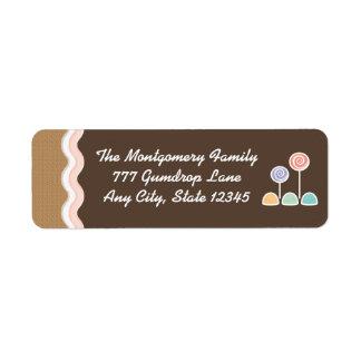 Gingerbread Candyland Holiday Return Address Label