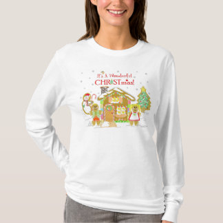 Gingerbread Candyland T-Shirt - Ladies