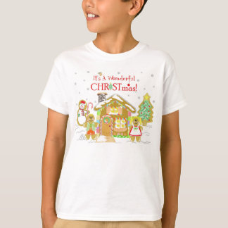 Gingerbread Candyland T-Shirt - Youth