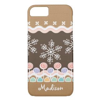 Gingerbread Candyland Winter Wonderland iPhone 7 Case