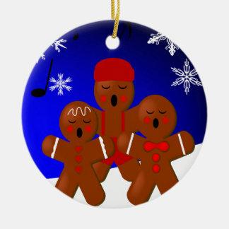 Gingerbread Carolers Christmas Ornament