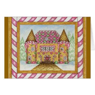 Gingerbread Castle Card