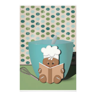Gingerbread Chef, Customizable Stationery
