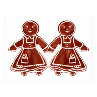 Gingerbread Children Girls The MUSEUM Zazzle Gifts Post Card