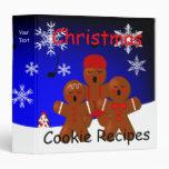 Gingerbread Christmas Carolers Recipe Binder
