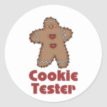 Gingerbread Christmas Cookie Tester Stickers