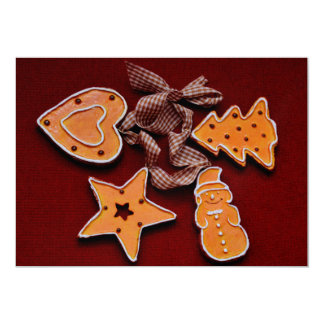 Gingerbread Christmas cookies decorations 5x7 Paper Invitation Card