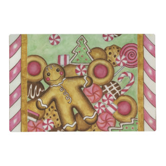 Gingerbread Christmas Cookies Holiday Placemat
