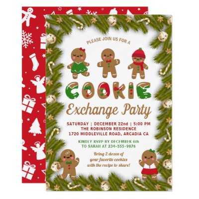 Christmas Cookie Party Invite.Oh Snap Christmas Cookie Exchange Party Invitation
