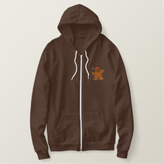 Gingerbread Christmas Embroidered Hoodie