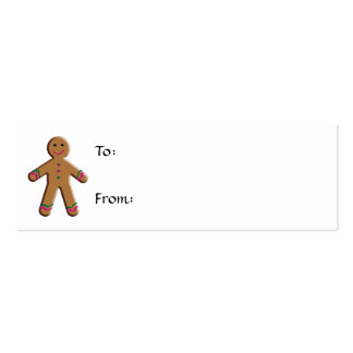 Gingerbread Christmas Gift Tag Double-Sided Mini Business Cards (Pack Of 20)