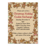 Gingerbread Christmas Holiday Cookie Exchange 4.5x6.25 Paper Invitation Card