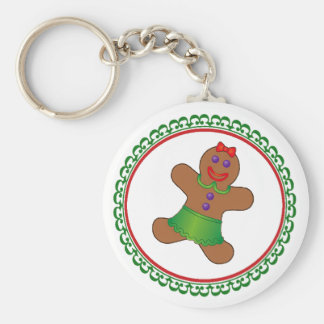 Gingerbread Christmas Keychain