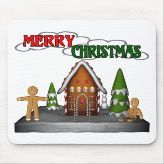 Gingerbread Christmas Mouse Pad