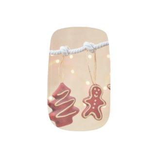 Gingerbread Christmas Nails Minx Nail Art