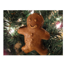 Gingerbread Christmas Postcard