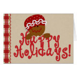 Gingerbread Christmas Recipe Greeting Cards