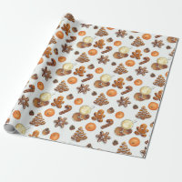 Gingerbread Christmas Scent Wrapping Paper
