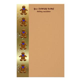 Gingerbread Christmas Custom Stationery