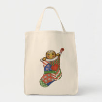 Gingerbread Christmas Stocking Bag