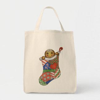Gingerbread Christmas Stocking Bag