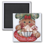 Gingerbread Christmas Sweets Magnet