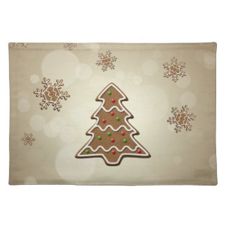 Gingerbread Christmas Tree - Cloth Placemat