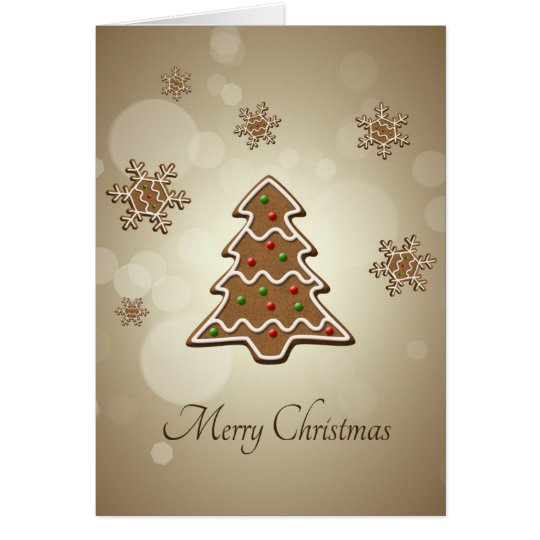 Gingerbread Christmas Tree - Greeting Card