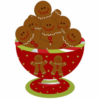 Gingerbread Christmas Tree Ornament Photo Cutout