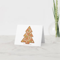 Gingerbread Christmas Tree with sparkle effect Card