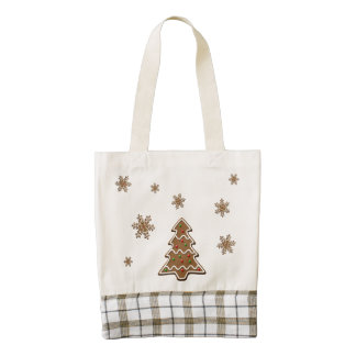 Gingerbread Christmas Tree - Zazzle HEART Tote